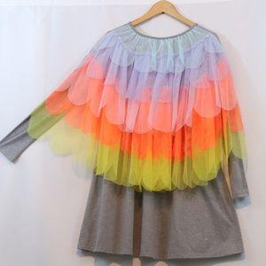 Cat & Jack Glitter Tulle Back Dress